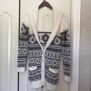 Sun and Shadow long sweater jacket